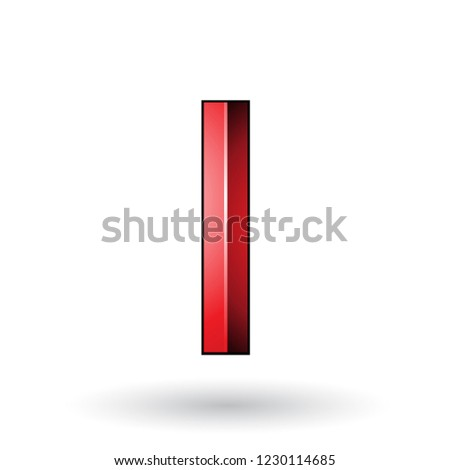 Red Glossy Embossed Letter A with a Dark Stroke Vector Illustrat Stock photo © cidepix