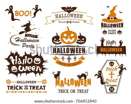 Color vintage halloween emblem ストックフォト © netkov1