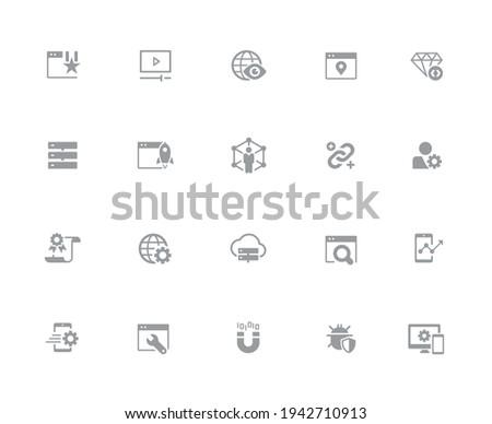 Weboldal ikonok fehér vektor munka pixel Stock fotó © Palsur