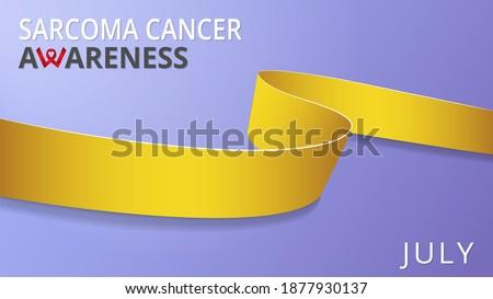 Conciencia semana realista amarillo cinta símbolo Foto stock © olehsvetiukha