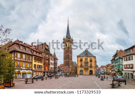 Main square in Obernai, Alsace, France Stock photo © borisb17