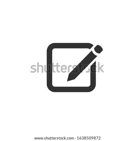 Compose email , mail or message icon for apps and websites. Stock Vector illustration isolated on wh Stock photo © kyryloff