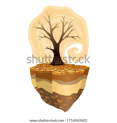 Earth global warming. Deforestation and drought. Warning ecology poster. Concept global drought Stock photo © designer_things