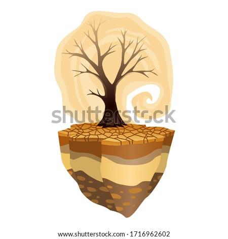 Ziemi globalne ocieplenie susza ostrzeżenie ekologia plakat Zdjęcia stock © designer_things