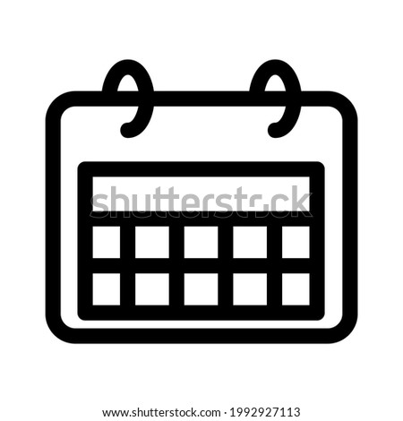 Set of simple black calendar icons on june isolated on white Stock photo © evgeny89
