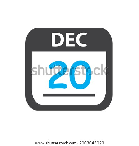 Simple black calendar icon with 20 june date isolated on white Stock photo © evgeny89