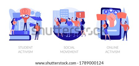 Online activism abstract concept vector illustration. Stock photo © RAStudio