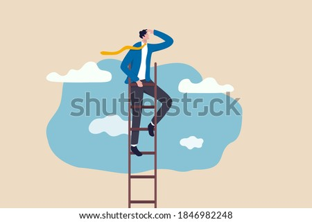 ビジネスマン キャリア はしご ビジネス 企業 仕事 ストックフォト © Elnur
