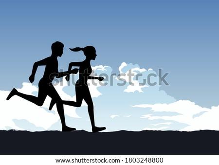 Gesunden Menschen passen tätig Lifestyle Paar Stock foto © Maridav