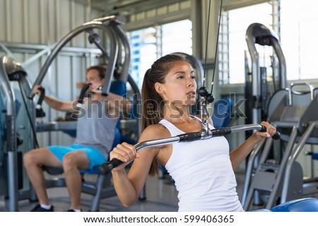 Fitness asian kobieta ramię Zdjęcia stock © Maridav