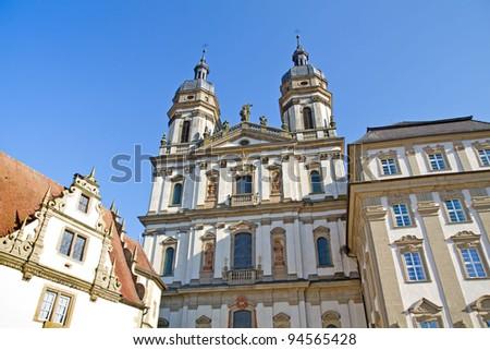 Church Inside The Schoental Monastery Germany Stok fotoğraf © haraldmuc
