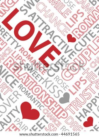 Palavras palavra amor coração projeto Foto stock © oly5