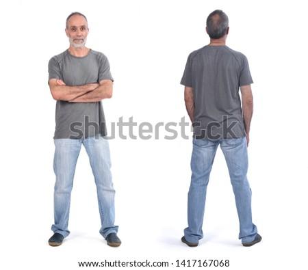 Portret senior man permanente witte business Stockfoto © meinzahn