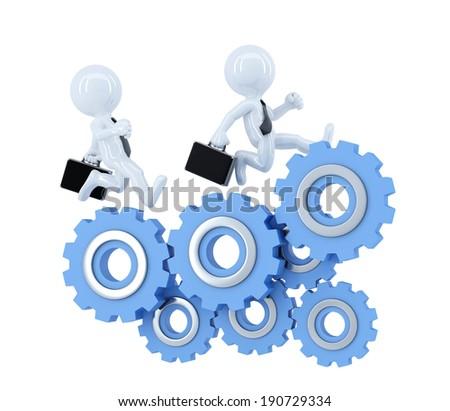 équipe commerciale courir Cog roue affaires Photo stock © Kirill_M