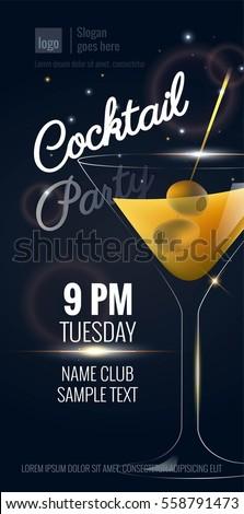 Invitación cumpleanos cóctel vino bar beber Foto stock © JackyBrown