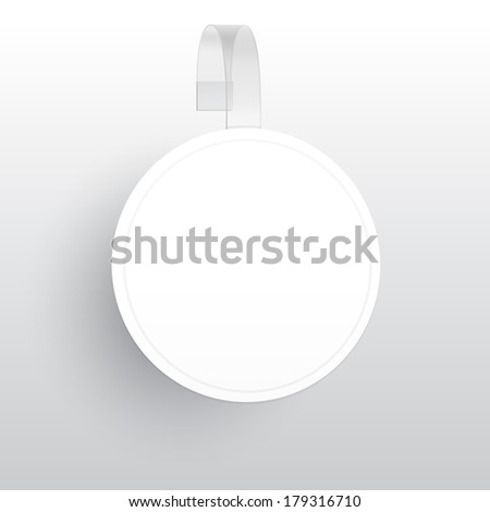 Vector Blank Wobbler with Transparent Strip Isolated on a White  Stock photo © netkov1