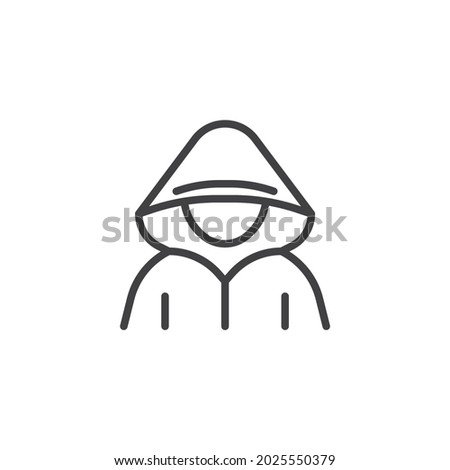 Pixelated unrecognizable hooded cyber criminal Stock photo © stevanovicigor
