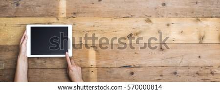 Webdesign houten tafel woord kantoor mode schoenen Stockfoto © fuzzbones0