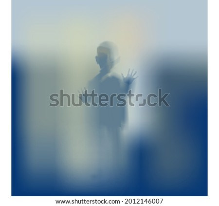 silhouette of orphan boy in danger stock photo © coolgraphic