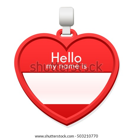 Name tag in the shape of a heart with copy space Stock photo © adrian_n