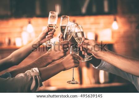 champagne cheering up Stock photo © sapegina
