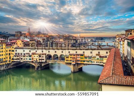 Avrupa · Floransa · gündoğumu · şehir · İtalya · katedral - stok fotoğraf © boggy