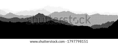 Preto e branco meio-tom vetor conjunto textura projeto Foto stock © fresh_5265954