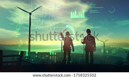 wind energy turbine power station Stock photo © Fesus