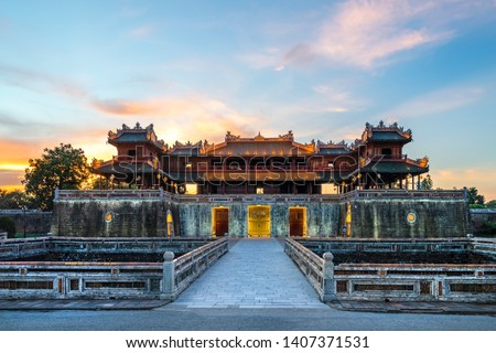 Real palácio Vietnã pormenor parede Ásia Foto stock © boggy