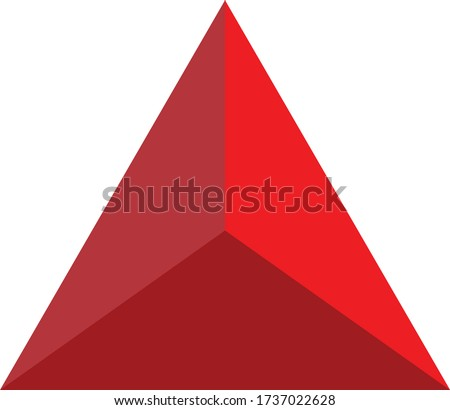 Red Bold and Curvy Geometrical Letter A Vector Illustration Stock photo © cidepix