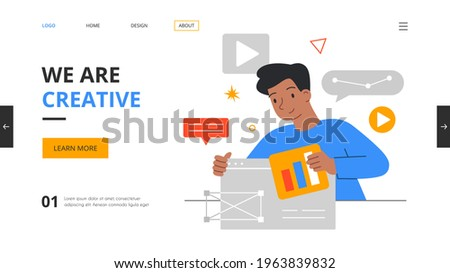ui · ontwerper · gebruiker · interface · schets · notebook - stockfoto © dolgachov