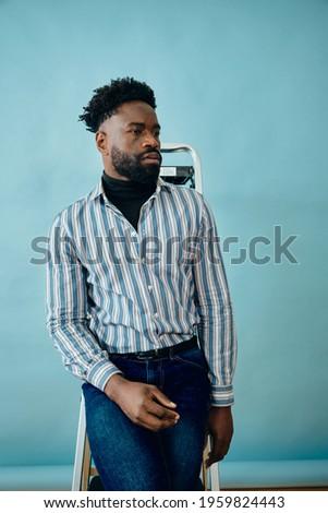 człowiek · biznesu · rękaw · portret · przystojny - zdjęcia stock © deandrobot