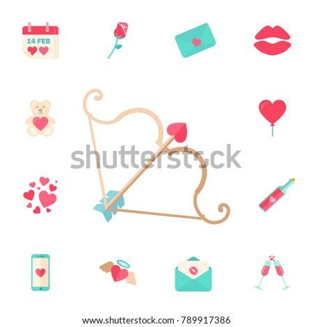 Valentine dia cartão envelope cor linha Foto stock © kyryloff