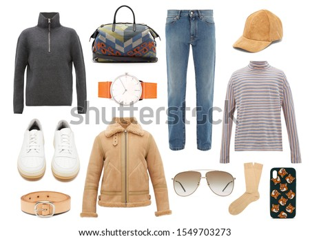 People Shopping Buying Clothes Man and Woman Set Stock photo © robuart