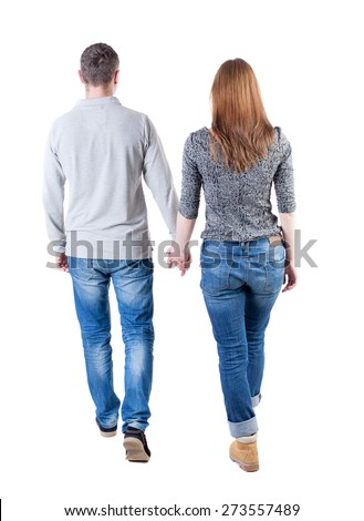 Side view of Caucasian couple walking hand in hand and interacting on the promenade on a  sunny day. Stock photo © wavebreak_media
