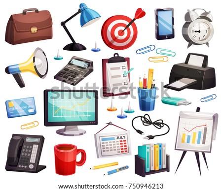 Irodai asztal aktatáska névjegy pénzügy gazdaság üzlet Stock fotó © Anneleven