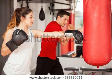 ボクシング フィットネス ボディービル カップル ポーズ ストックフォト © Jasminko