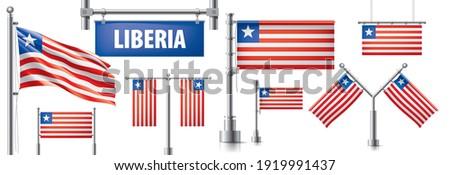 Vetor conjunto bandeira Libéria criador Foto stock © butenkow