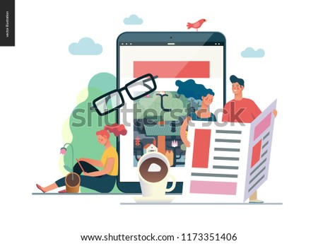 Spread various media vector concept metaphor Stock photo © RAStudio
