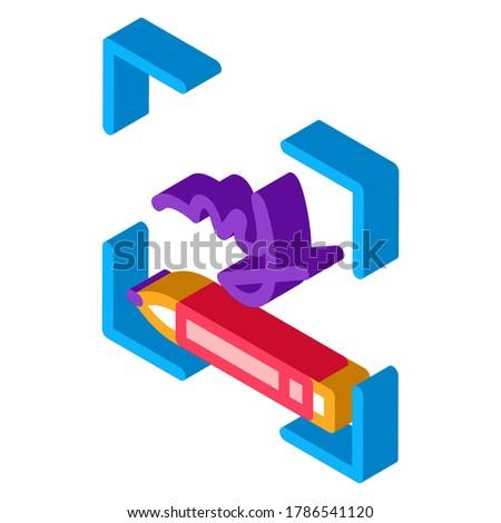 Humanismo letra isométrica ícone vetor assinar Foto stock © pikepicture