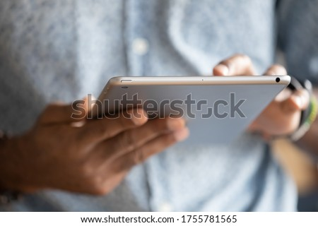 Close-up of a touchscreen, new tech concept Stock photo © ra2studio