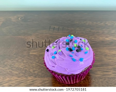 Colorful confetti on dark table Stock photo © dashapetrenko