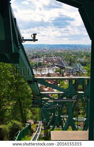 Drezno niebieski zastanawiać się drogowego budowy most Zdjęcia stock © LianeM