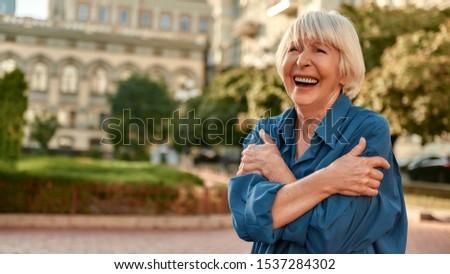 Senior donna banner isolato bianco carta Foto d'archivio © Kurhan