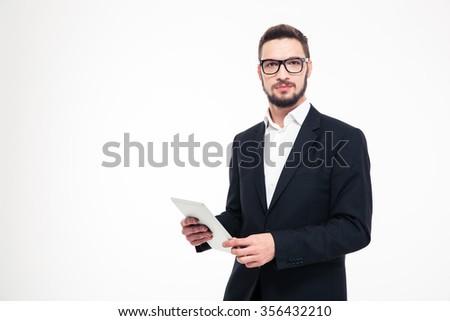 Sérieux regarder affaires blanche affaires travaux Photo stock © wavebreak_media