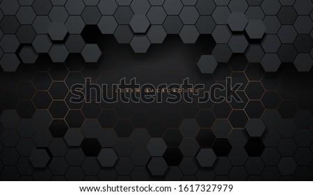 六角形 金属 バナー eps 10 ビジネス ストックフォト © HelenStock