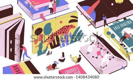 fairytale vector illustration Stock photo © balasoiu