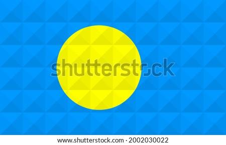 Palau bandeira forma cinza assinar Foto stock © tkacchuk