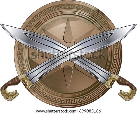 görög · páncél · részletek · katonaság · védelem · Görögország - stock fotó © cosma