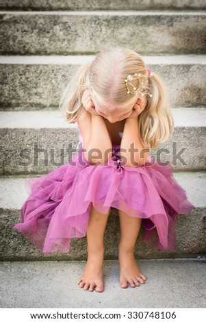 Beautiful blond girl with diamond diadem on her head isolated on Stock photo © Nejron